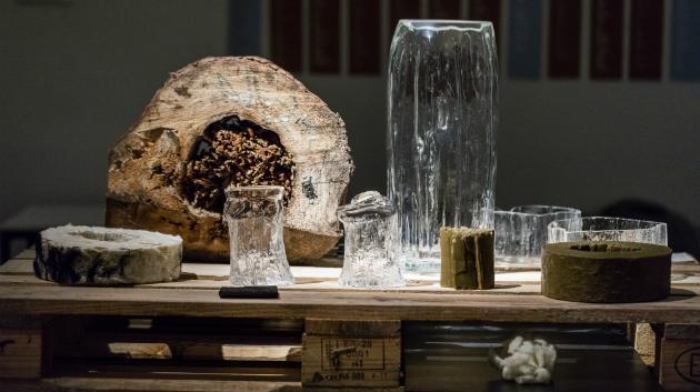 K textilním experimentům posloužila vodní blecha, pryskyřice i pár kilo soli